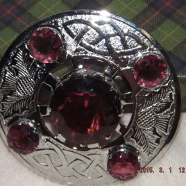 Plaid Broach – Amethyst