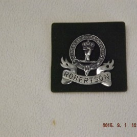 Door Plate – Clan Badge with Robertson Banner