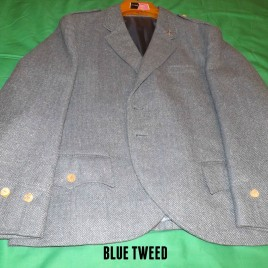 Blue Tweed Jacket with Bone Buttons